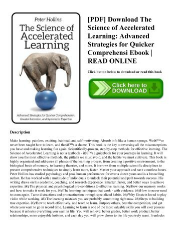 [PDF] Download The Science of Accelerated Learning: Advanced Strategies for Quicker Comprehensi Ebook   READ ONLINE