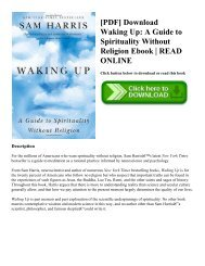 [PDF] Download Waking Up: A Guide to Spirituality Without Religion Ebook | READ ONLINE