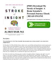 [PDF] Download My Stroke of Insight: A Brain Scientist's Personal Journey Ebook | READ ONLINE