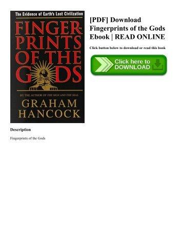 [PDF] Download Fingerprints of the Gods Ebook | READ ONLINE