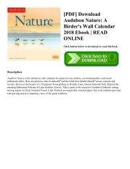 [PDF] Download Audubon Nature: A Birder's Wall Calendar 2018 Ebook   READ ONLINE