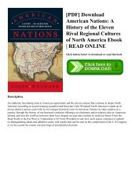 [PDF] Download American Nations: A History of the Eleven Rival Regional Cultures of North America Ebook   READ ONLINE