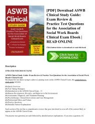 [PDF] Download ASWB Clinical Study Guide: Exam Review & Practice Test Questions for the Association of Social Work Boards Clinical Exam Ebook | READ ONLINE