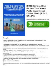 [PDF] Download Pass the New York Notary Public Exam Second Edition Ebook | READ ONLINE