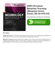 [PDF] Download Blueprints Neurology (Blueprints Series) Ebook | READ ONLINE