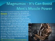Magnumax - Its Can Boost Mens Muscle Power