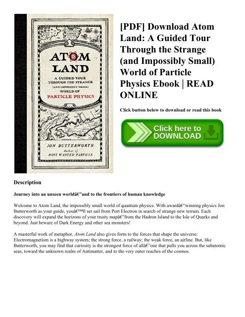 PDF] Download Atom Land: A Guided Tour Through the Strange (and
