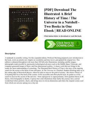 [PDF] Download The Illustrated A Brief History of Time / The Universe in a Nutshell - Two Books in One Ebook | READ ONLINE