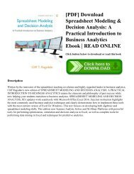 Introduction To Decision Analysis Pdf