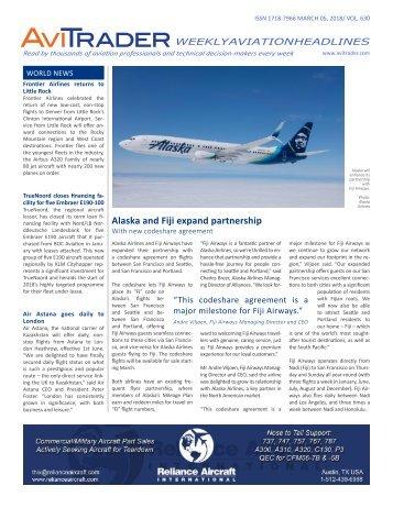 AviTrader Weekly News 2018-03-05