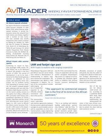 AviTrader Weekly News 2018-03-26