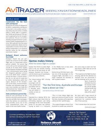 AviTrader Weekly News 2018-04-02
