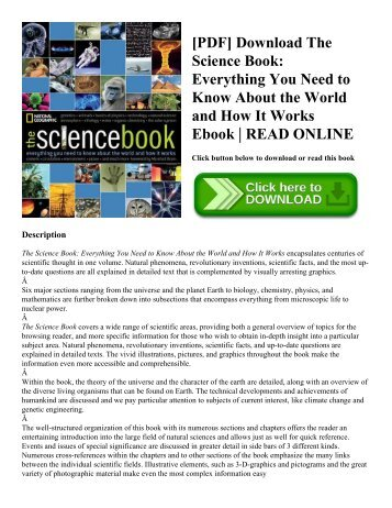 [PDF] Download The Science Book: Everything You Need to Know About the World and How It Works Ebook | READ ONLINE