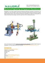 Mechanical Engineering Laboratory Equipment
