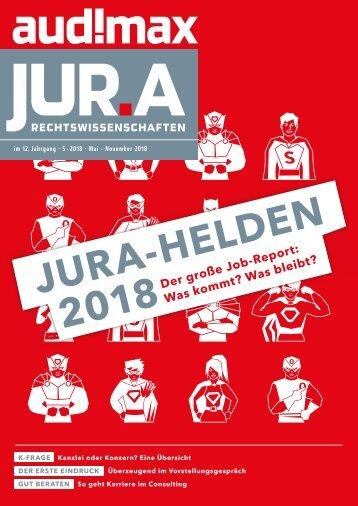 audimax JUR.A 5/2018 - Karrieremagazin für Juristen