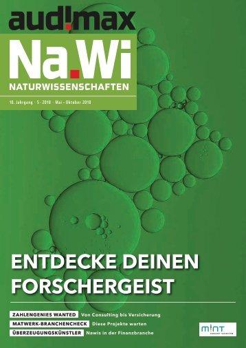 audimax Na.Wi 5/2018 - Karrieremagazin für Naturwissenschaftler