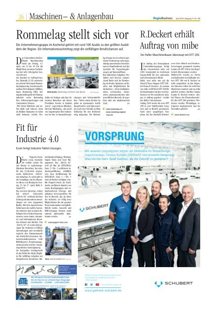 RegioBusiness April 2018