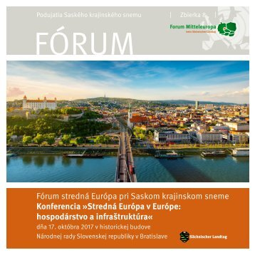 Konferencia »Stredná Európa v Európe: hospodárstvo a infraštruktúra« 2017