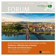 Forum Mitteleuropa: Konferenz