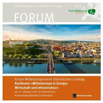 """Forum Mitteleuropa: Konferenz """"Mitteleuropa in Europa"""" 2017 (Heft 8)"""