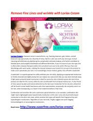 Improve Your Overall skin health with Loriax Cream
