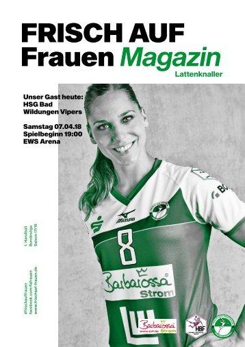 """Ausgabe 10 - Saison 2017/2018 - FRISCH AUF Frauen Magazin """"LATTENKNALLER"""""""