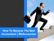 How To Become The Best Accountant   WeAccountax
