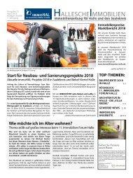 Hallesche Immobilienzeitung Ausgabe 72 April 2018