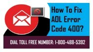 1-800-488-5392 | Fix AOL Error Code 400