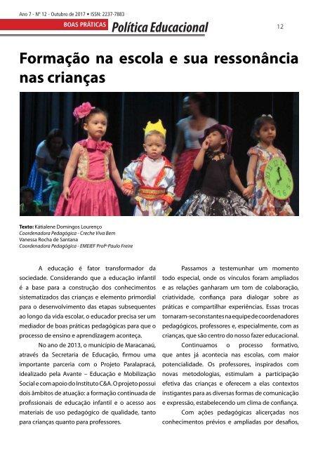 Revista Educação e Reflexão Ano 7 Ed. 12