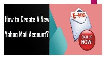 Call 1-800-213-3740   Create a New Yahoo Mail Account