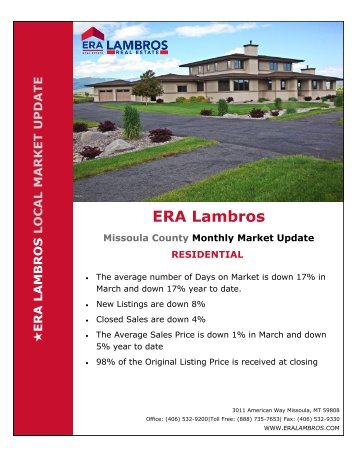 Missoula Residential Update - March 2018