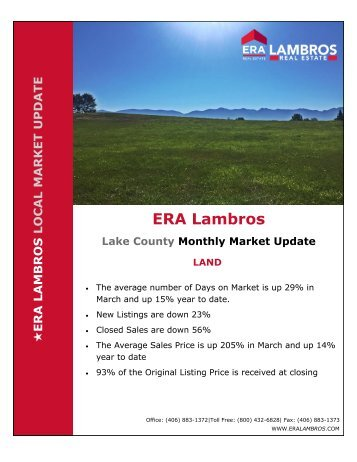 Lake County Land Update - March 2018