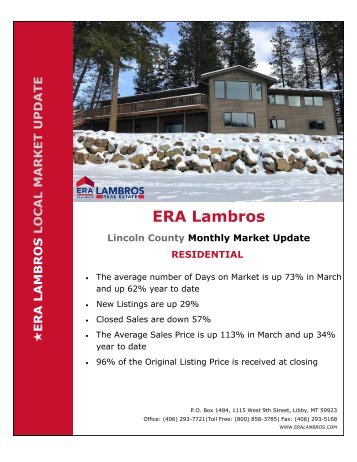 Lincoln County Residential Update - March 2018