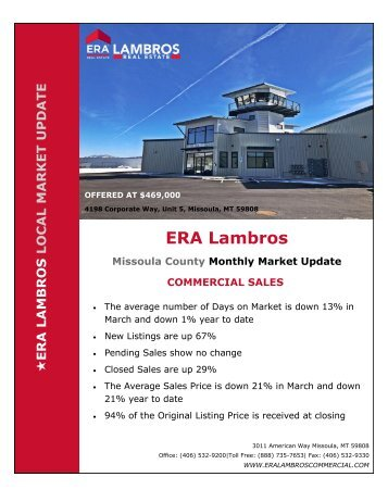 Missoula Commercial Update - March 2018