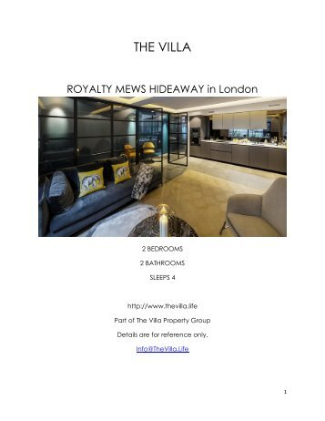 Royalty Mews Hideaway - London