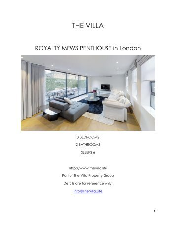 Royalty Mews Penthouse - London