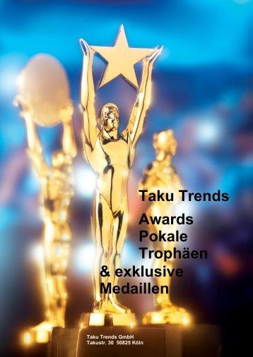 Awards Pokale Trophäen Medaillen mit Gravur
