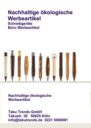 Ökologische Werbeartikel Schreibgeräte Holz Kugelschreiber