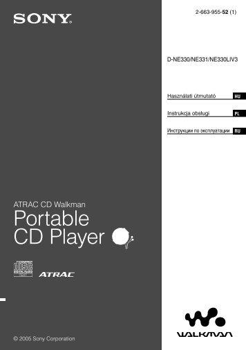 Sony D-NE331 - D-NE331 Consignes d'utilisation Hongrois