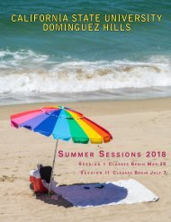 CSUDH Summer Sessions 2018 Bulletin (Interactive)