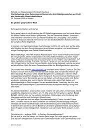 Grussbotschaft von Herr Regierungsrat Christoph Neuhaus