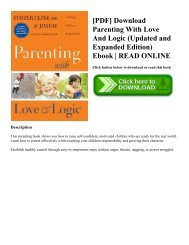 [PDF] Download Parenting With Love And Logic (Updated and Expanded Edition) Ebook | READ ONLINE