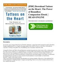 [PDF] Download Tattoos on the Heart: The Power of Boundless Compassion Ebook | READ ONLINE