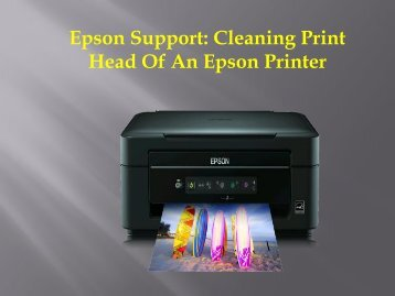 Epson Support: Cleaning Print Head of An Epson Printer