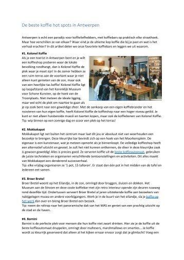 De beste koffie hot spots in Antwerpen