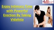 Choose Vidalista Medication For Erectile Disability