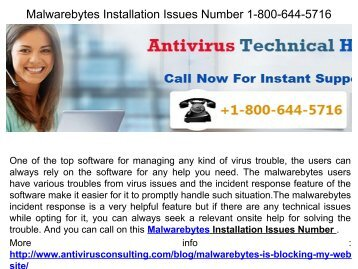 24X7 Help Malwarebytes Tech Support .