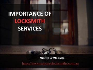 Importance of Locksmith Services