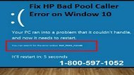 Call 1-800-597-1052 HP Laptop Bad Pool Caller Error on Window 10